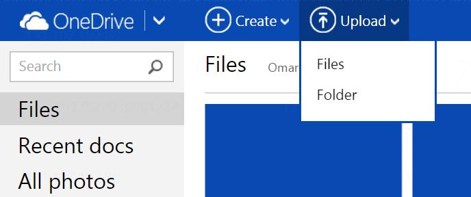 OneDriveFolderUpload